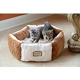 Faux Fur Octagon Pet Bed