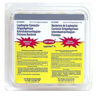 Lepto Vax 4 Dog Vaccine 25x1ml vials