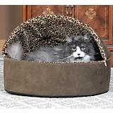 KH Mfg Deluxe Heated Mocha Cat Bed