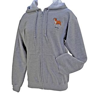 Breed Embroidered Zip Up Hoodie