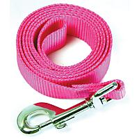 Image of Nylon Dog Leash 6ft x 5/8in Neon Pink