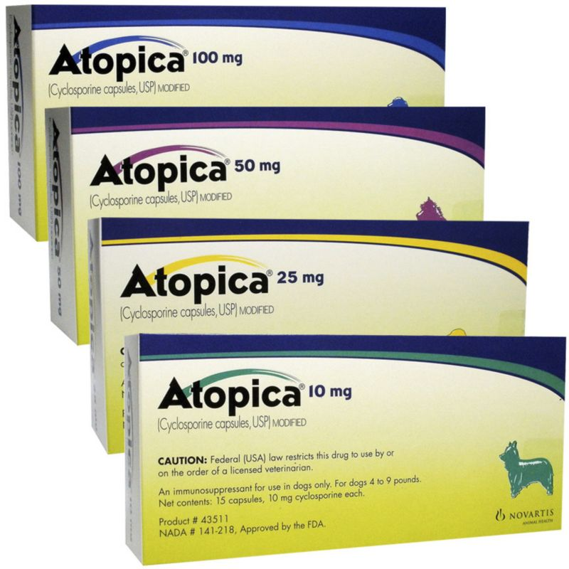Atopica Capsules for Dogs 10mg 15 Count