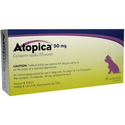 Atopica Capsules for Dogs 50mg 15 Count