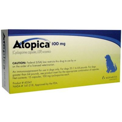 Atopica Capsules for Dogs 100mg 15 Count