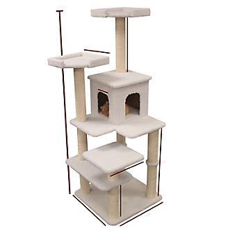 Majestic 66 Inch Bungalow Cat Furniture Tree
