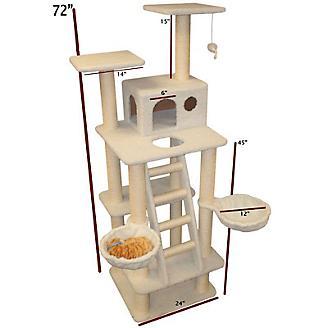 Majestic 72 Inch Bungalow Cat Furniture Tree