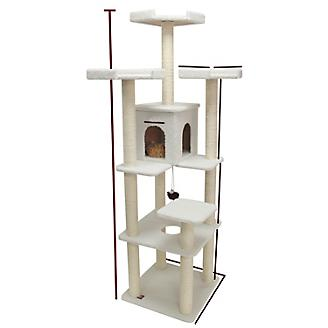 Majestic 80 Inch Bungalow Cat Furniture Tree