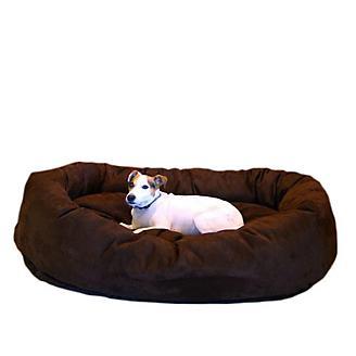 Majestic Suede Bagel Dog Bed