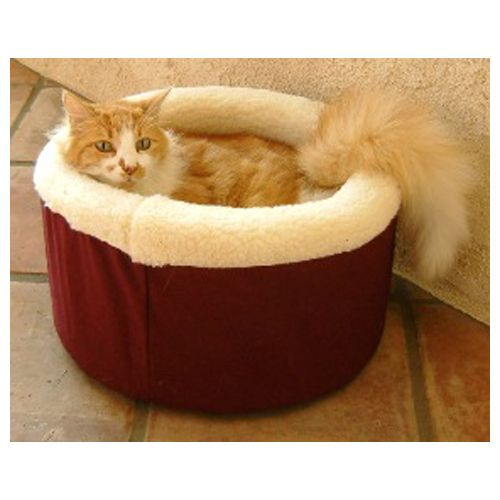 Majestic Cat Cuddler Pet Bed Small Burgundy