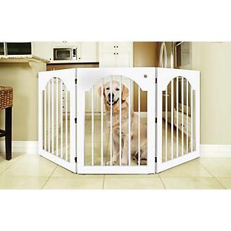 Universal Free Standing Wood Pet Gate