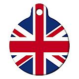 British Flag Pet ID Tag