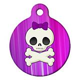 Girlie Skull Pet ID Tag