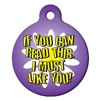 I Must Like You Pet ID Tag