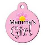 Mamas Girl Pet ID Tag Small