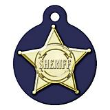 Sheriff Badge Pet ID Tag