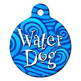 Water Dog Pet ID Tag