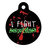 Zombie Fighter Pet ID Tag