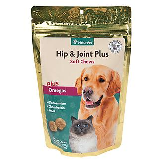 NaturVet Hip and Joint Plus Soft Chew - 120 ct