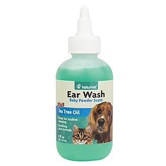 NaturVet Pet Ear Wash with Tea Tree Oil