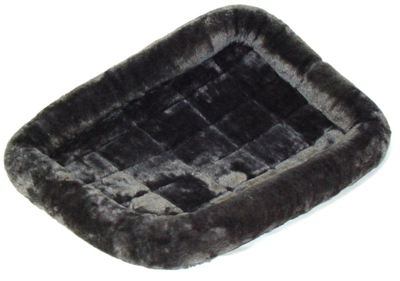 Midwest Quiet Time Plush Pet Bed 24 inch Gray
