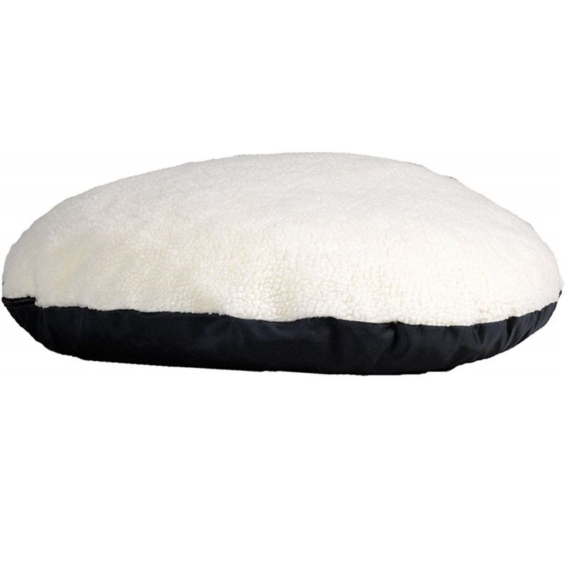 Quiet Time Round Polyfill Pillow Pet Bed 34in Navy
