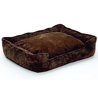 Jax and Bones Choco Corduroy Lounge Dog Bed