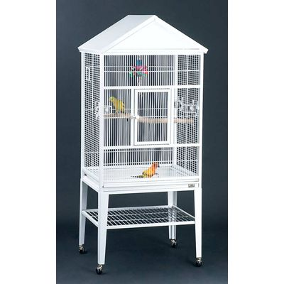 Avian Adventures Loro Flight Bird Cage White
