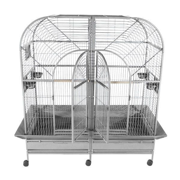 A and E Double Macaw Bird Cage Black