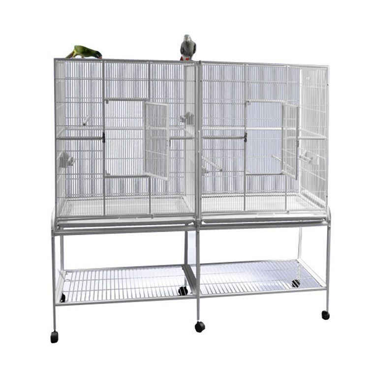 A and E Double Flight Bird Cage Black