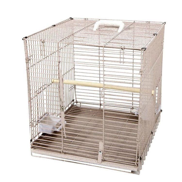 A and E Folding Travel Bird Cage Black