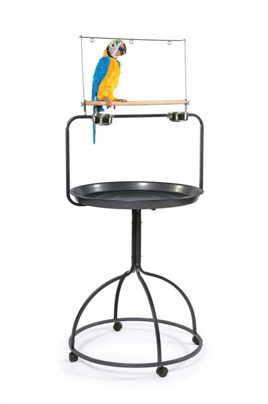 Prevue Round Parrot Playstand 3183 Black