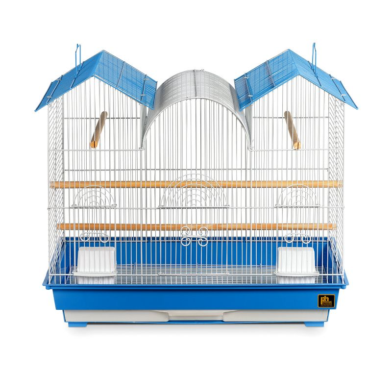 Prevue 1804 Triple Roof Bird Cage Blue