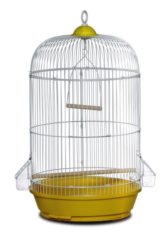 Prevue Small Round Bird Cage Yellow
