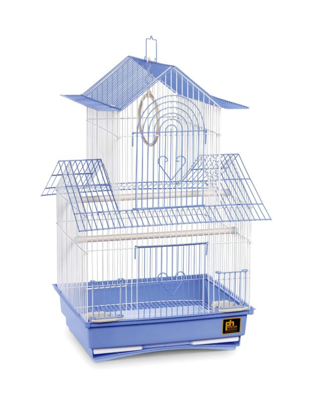 Prevue Shanghai Parakeet Cage Ylw/Wht
