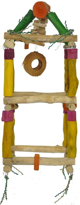 Java Wood Double Hanging Bird Tower Medium
