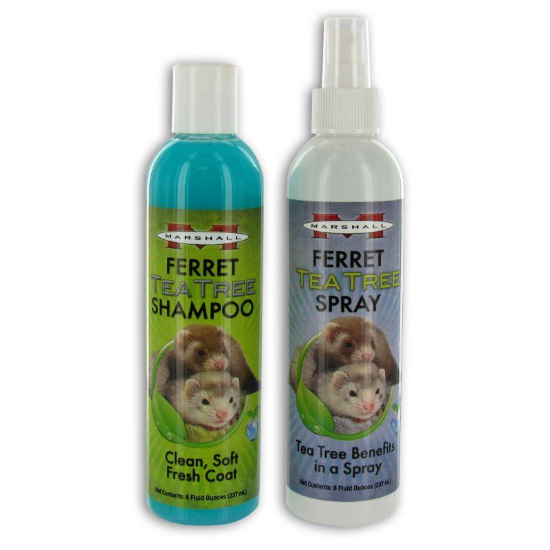 Marshalls Tea Tree Ferret Shampoo and Spray Set