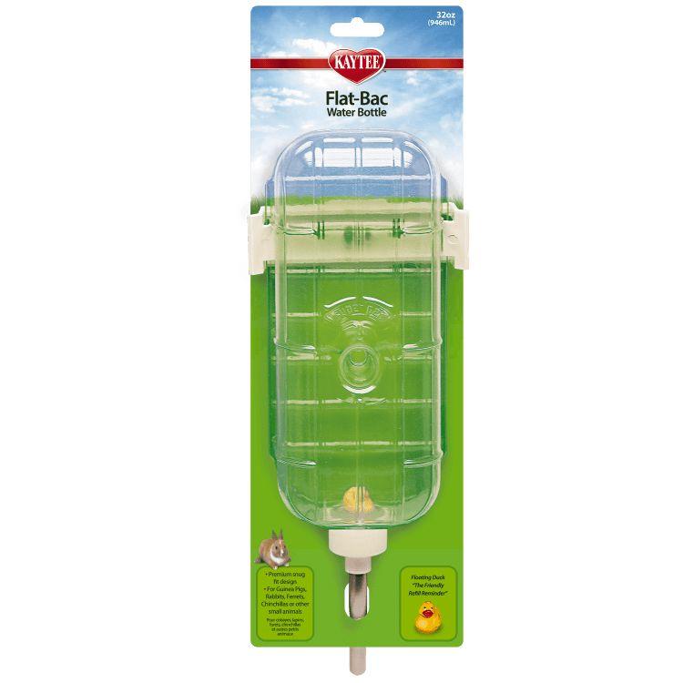 Kaytee Flat-Bac Plastic Pet Water Bottle 16 oz