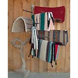Wall Mount Blanket & Pad Rack Grey 45in