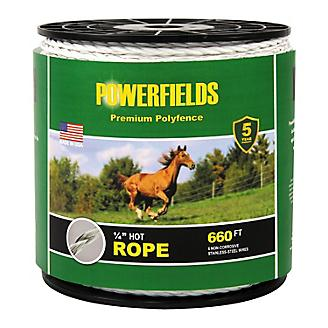 Powerfields 6 Wire Hot Rope 1/4in X 660 ft White