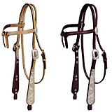 Tory Silver Buckaroo Knotted Browband Headstall