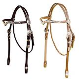 Tory Silver San Diego V Browband Headstall