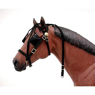 Nylon Driving Harness Bridle Black Horse