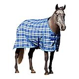 Kensington Cotton Day Sheet 84In Blue Plaid
