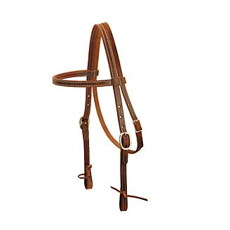 Tory Harness Leather DS Tie End BrowbandHeadstall