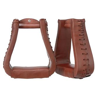 Tough-1 Oversized Leather Bell Stirrups