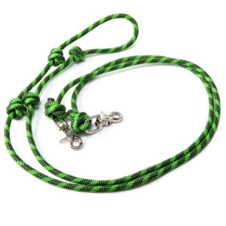 LIME Green 6/' Flat Braided Poly Rope PONY Mini Trail Reins w Snaps both ends USA