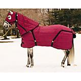 Snuggie Quilted Stable Blanket 80In Burgundy/Black