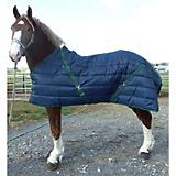 Snuggie Quilted Draft Stable Blanket 88In Navy/Hun