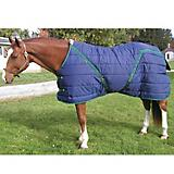 Snuggie Quilted Pony Stable Blanket 64In Black/Sil