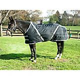 Snuggie Quilted Pony Stable Blanket 62In Black/Sil